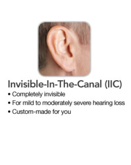 Invisible in canal hearing aid