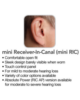 Mini Receiver in the canal hearing aid