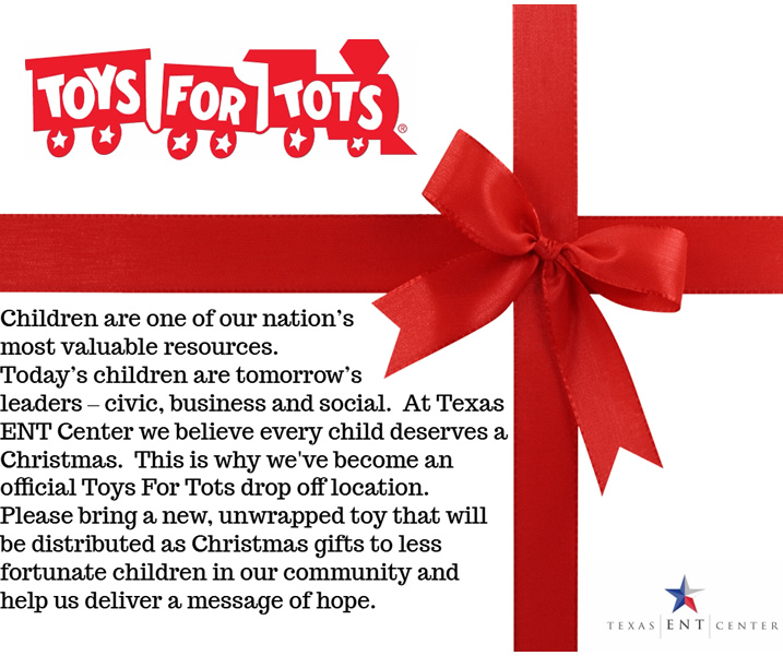 Toys for Tots at Texas ENT Center